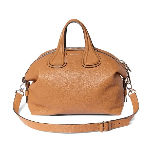 Givenchy Medium nightingale leather satchel in pony brown - Contrasting painted edges lend subtle embellishment to...