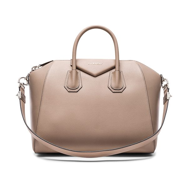 Givenchy Medium Sugar Antigona in neutrals - Calfskin leather with canvas fabric lining and...
