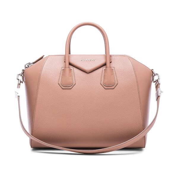 Givenchy Medium antigona in neutrals,pink - Goatskin leather with canvas fabric lining and...