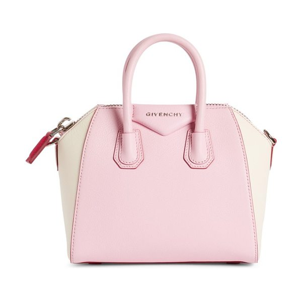 Givenchy mini antigona bicolor sugar leather satchel in bright pink - A fan-favorite bag with a beautifully structured...