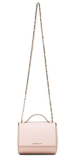 GIVENCHY Mini chain pandora box - Calfskin leather with suede lining and pale gold-tone...