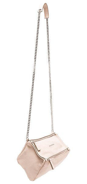 "Givenchy Mini Chain Sugar Pandora in neutrals - ""Goatskin leather with canvas lining and silver-tone..."