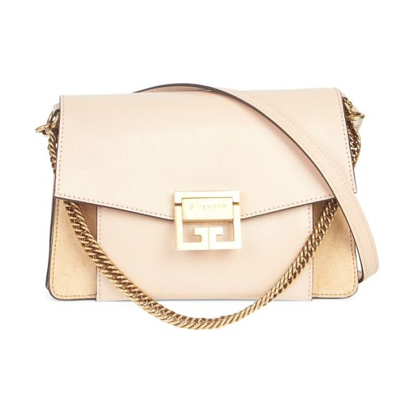 Givenchy mini gv3 shoulder bag in nude - Modern luxe mini logo handbag with dual straps....