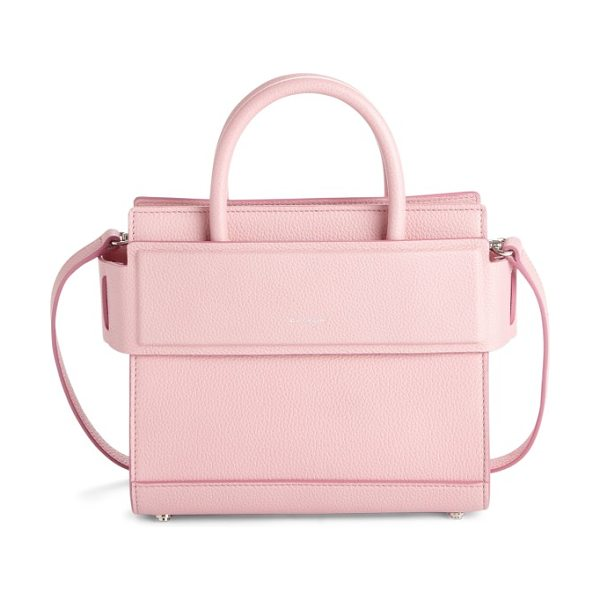 GIVENCHY mini horizon grained calfskin leather tote in bright pink - Finely pebbled calfskin leather is beautifully crafted...