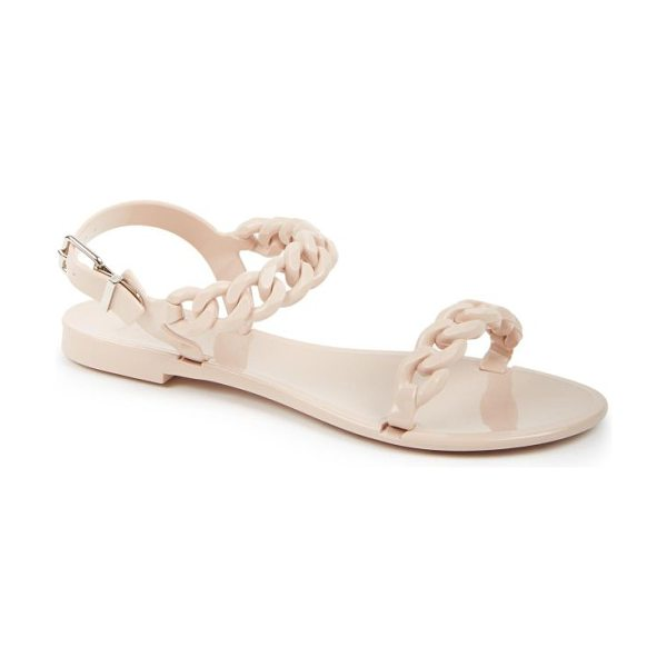 Givenchy nea jelly flat sandals in nude - A sleek chainlink-strap design provides a modern update...