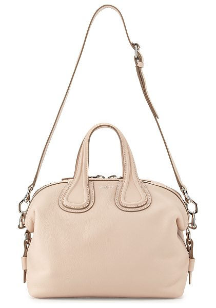 Givenchy Nightingale Small Waxy Leather Satchel Bag in nude pink - Givenchy waxy calfskin satchel bag. Palladium hardware...
