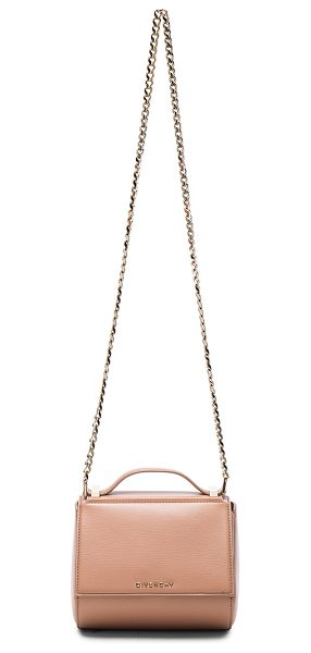 Givenchy Pandora box chain bag in pink,neutrals - Calfskin leather with suede lining and pale gold-tone...