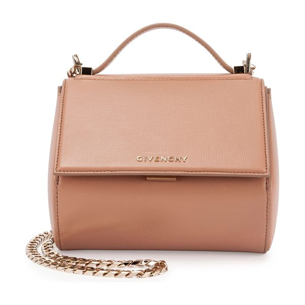Givenchy Pandora Box Mini Chain Shoulder Bag in pink - Givenchy structured calfskin shoulder bag. Shiny golden...