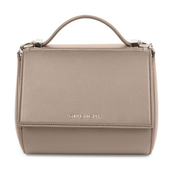 GIVENCHY pandora box mini leather chain crossbody bag in mastic - Classic structured design with sleek chain strap. Top...