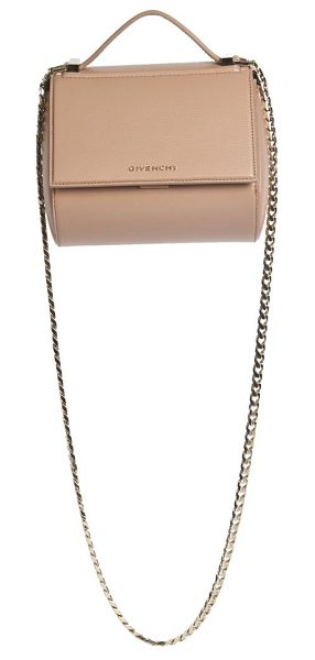 Givenchy Pandora box mini textured leather chain crossbody bag in oldpink