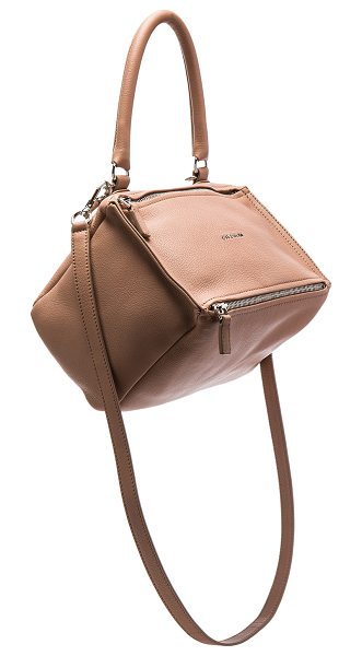 Givenchy Pandora Small Bag in pink - Goatskin leather with canvas lining and silver-tone...