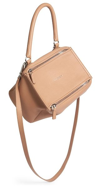 Givenchy Pandora small leather crossbody bag in oldpink
