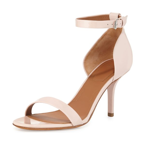"Givenchy Petra Patent d'Orsay Sandal in nude - Givenchy patent leather sandal. 3.3"" covered heel. Thin..."