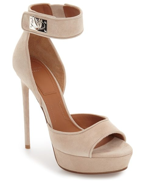 GIVENCHY plara shark tooth sandal - A signature shark turnlock closure along the ankle strap...