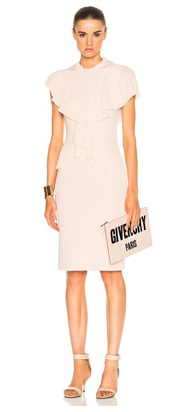 Givenchy Pleated Dress in neutrals,pink - Self: 85% viscose 12% polyamide 3% elastan - Contrast...