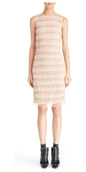 Givenchy ruffle silk sheath dress in pale pink - Pale blushed hues further the delicate femininity of a...