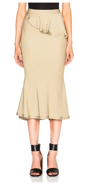 Givenchy Ruffle Skirt in neutrals - Self: 95% viscose 5% elastan - Contrast Fabric: 88%...