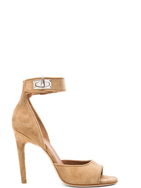 Givenchy GIVENCHY Shark Lock Suede Sandals in neutrals - Suede upper with leather sole.  Made in Italy.  Approx...