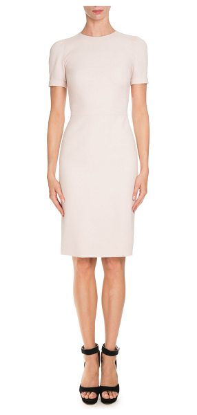 Givenchy Short-Sleeve Fitted Pencil Dress in skin - Givenchy pencil dress. Jewel neckline. Short sleeves;...