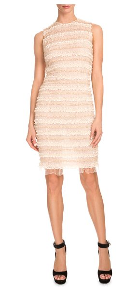 Givenchy Sleeveless Micro-Ruffle Cocktail Dress in pale pink - Givenchy cocktail dress with two-tone micro ruffles....
