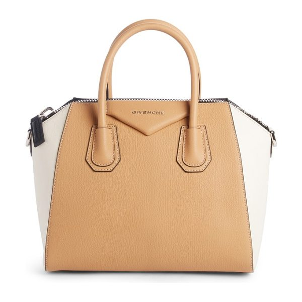 GIVENCHY small antigona bicolor sugar leather satchel - Beloved by street-style mavens and well-polished women...