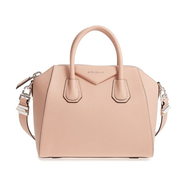 Givenchy 'small antigona' leather satchel in beige - Beloved by street-style mavens and well-polished women...