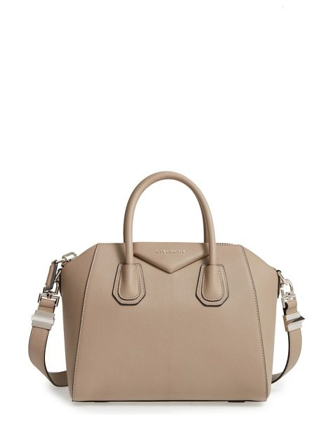 Givenchy 'small antigona' leather satchel in mastic - Beloved by street-style mavens and well-polished women...