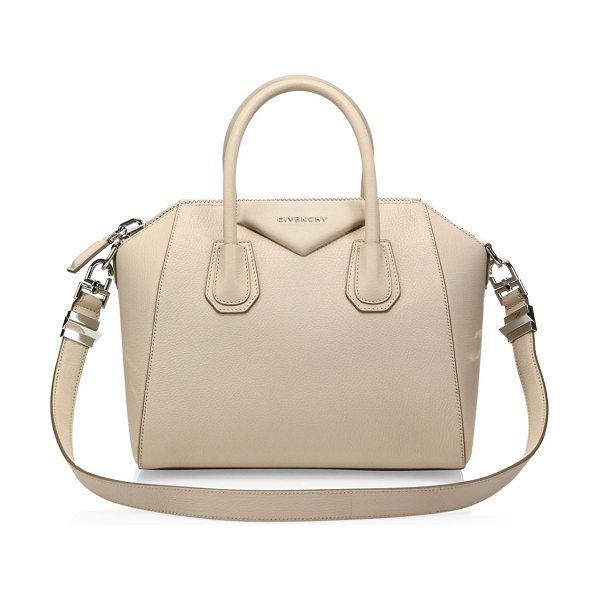 Givenchy antigona small leather satchel in nudepink - Petite, iconic crossbody in rich, buttery leather....