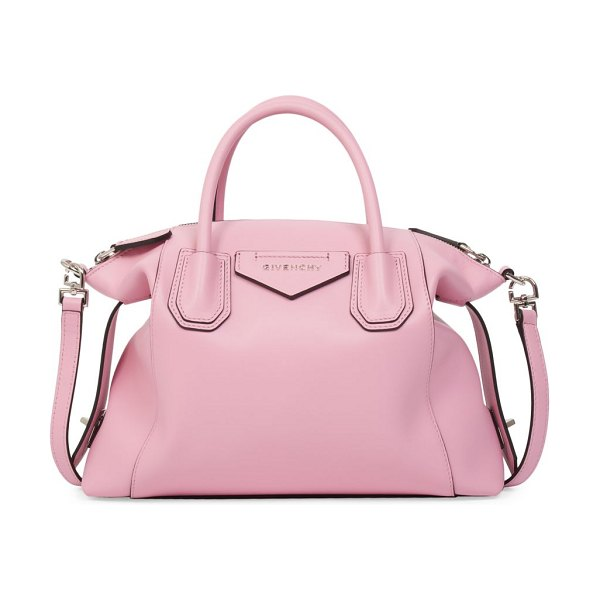 Givenchy small antigona soft leather satchel in baby pink