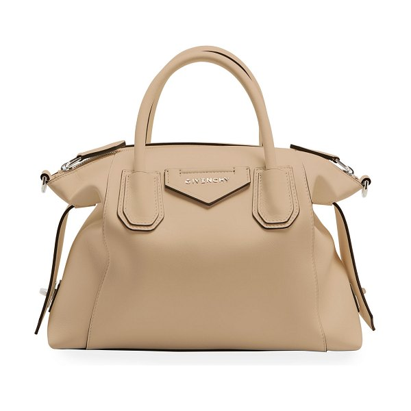 Givenchy Small Antigona Soft Satchel Bag in Calfskin in 250 beige