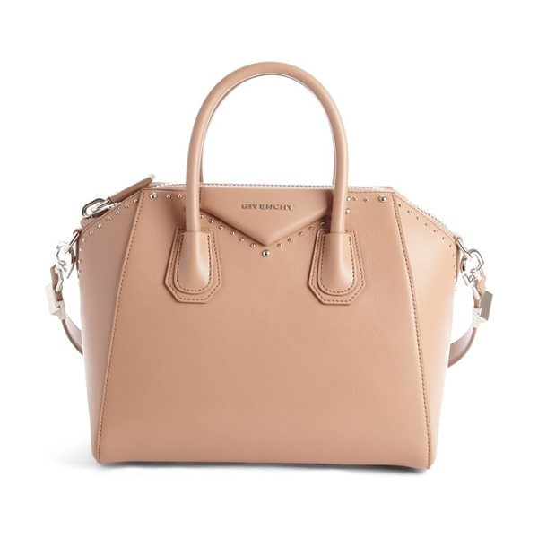 Givenchy Small antigona leather satchel in old pink - Beloved by street-style mavens and well-polished women...