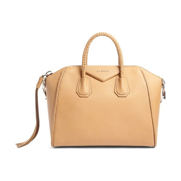 GIVENCHY small antigona woven handle leather satchel - Beloved by street-style mavens and well-polished women...