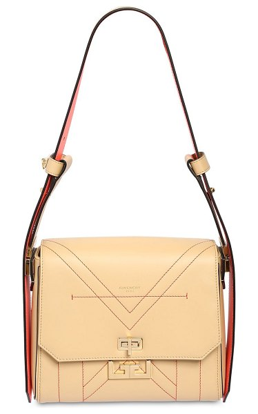 Givenchy Small eden leather shoulder bag in beige