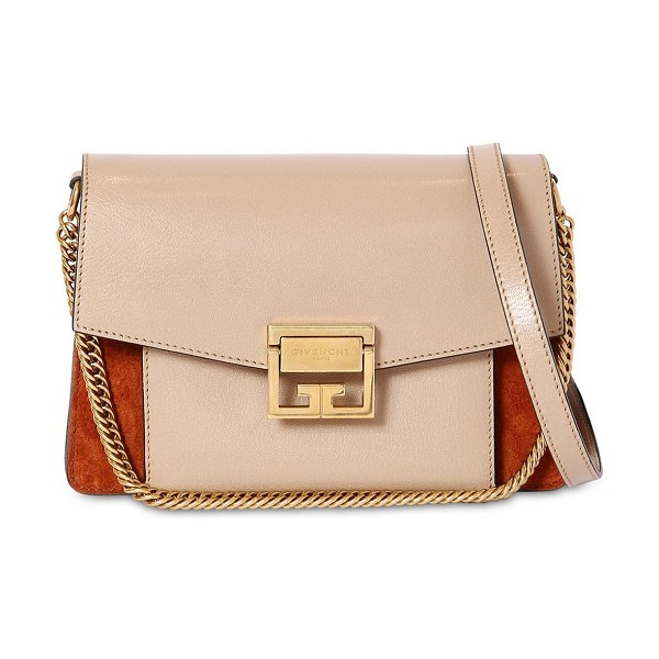 Givenchy Small gv3 ponyskin printed leather bag in beige,brown