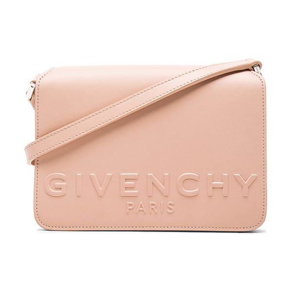 Givenchy Small Logo Bag in pink,neutrals - Calfskin leather with suede lining and silver-tone...