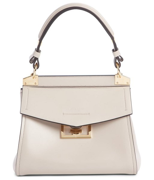 Givenchy small mystic leather satchel in beige