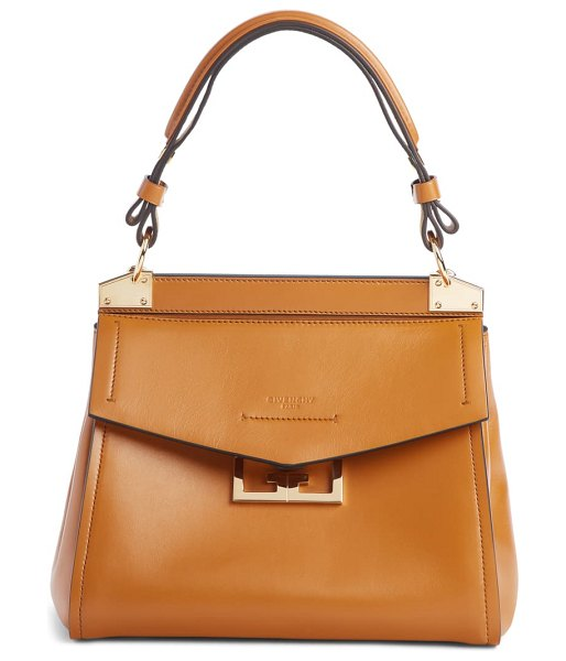 Givenchy small mystic leather satchel in brown