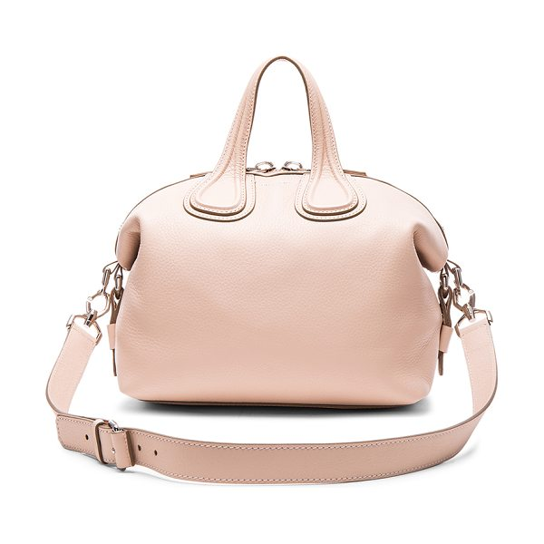 Givenchy Small Nightingale in nude pink - Calfskin leather with canvas lining and silver-tone...