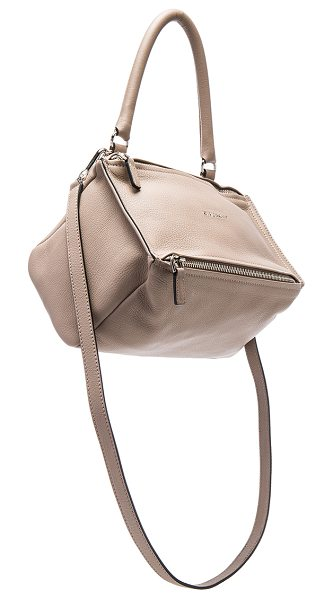 GIVENCHY Small Sugar Pandora in mastic - Goatskin leather with canvas lining and silver-tone...