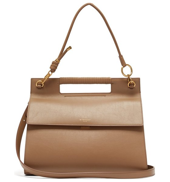 Givenchy the whip large cut out leather cross body bag in tan - Givenchy - Givenchy's SS19 runway show sought to...