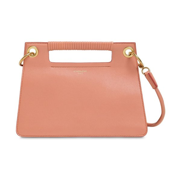 Givenchy Whip small leather top handle bag in pale coral
