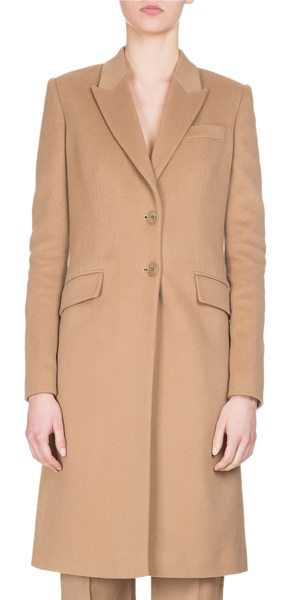 Givenchy Wool-Cashmere Classic Coat in camel - Givenchy classic single-breasted coat. Peak lapel;...