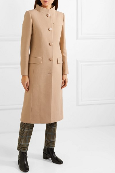 Givenchy wool-crepe coat in brown