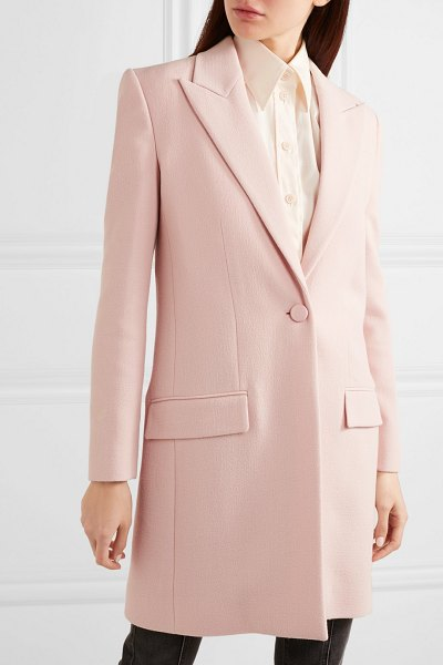 Givenchy wool-crepe coat in pink