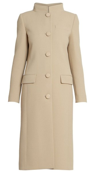 Givenchy wool funnelneck overcoat in tan
