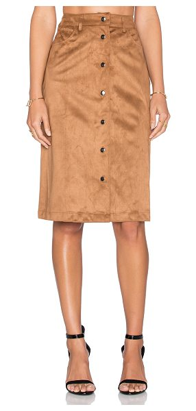 Glamorous Button front skirt in tan - 100% poly. Unlined. Front button closures. Skirt...