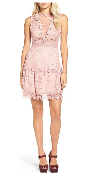 Glamorous lace fit & flare dress in pink - A figure-skimming fit-and-flare dress is pretty and...