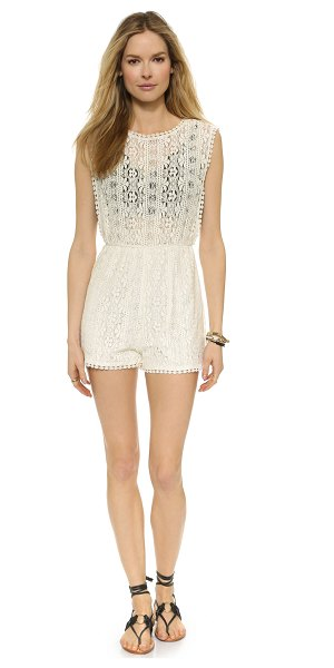 Glamorous Lace romper in cream - Rich lace composes this sleeveless Glamorous romper....