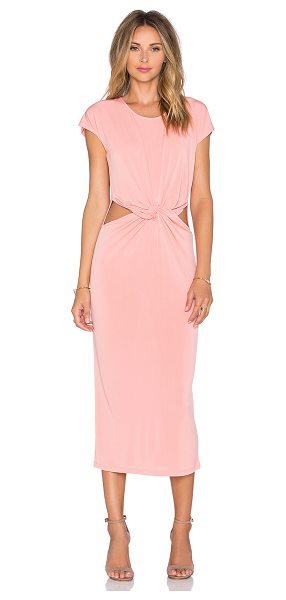 Glamorous Twist front dress in peach - 92% poly 8% elastane. Unlined. Cut-out detail....