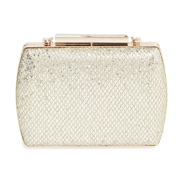 Glint glitter minaudiere in gold - With a glittering finish, polished hardware and a...